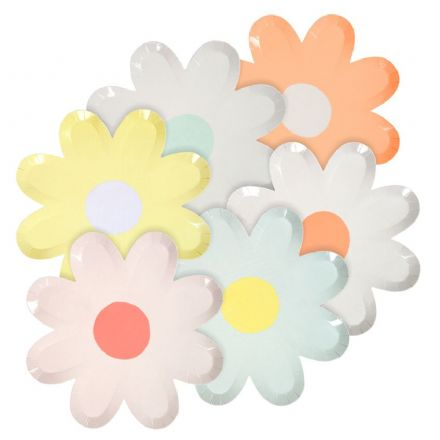 Daisy Shaped Paper Party Plates